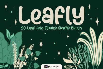 Leafly - Procreate Stamp Brush