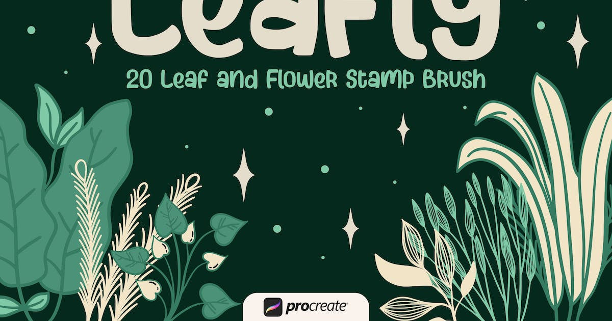 Download Leafly - Procreate Stamp Brush by garisman