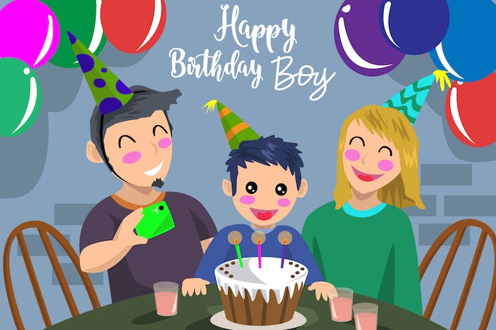 Thumbnail for Birthday Boy - Vector Illustration