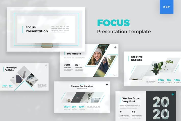 Thumbnail for Creative Keynote Presentation Template