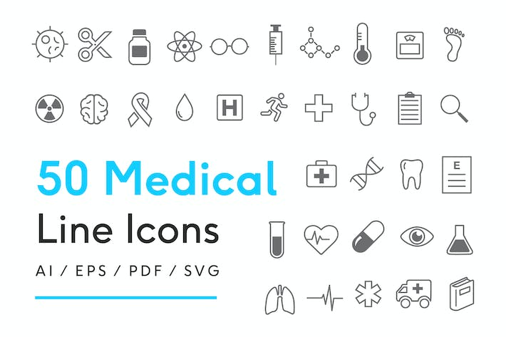 Thumbnail for Medical Line Icons