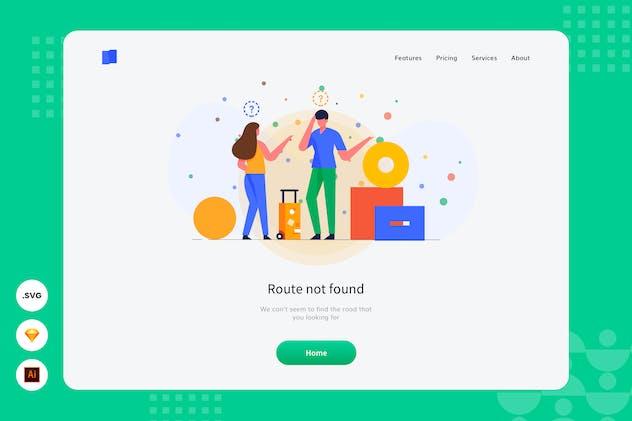 Route Not Found - Website Header - Illustration