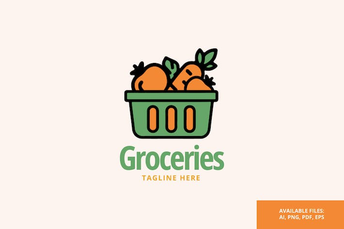 Thumbnail for Groceries - Logo Template