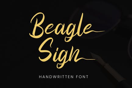 Знак Бигл - Шрифт подписи