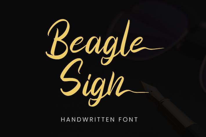 Thumbnail for Beagle Sign - Signature Font