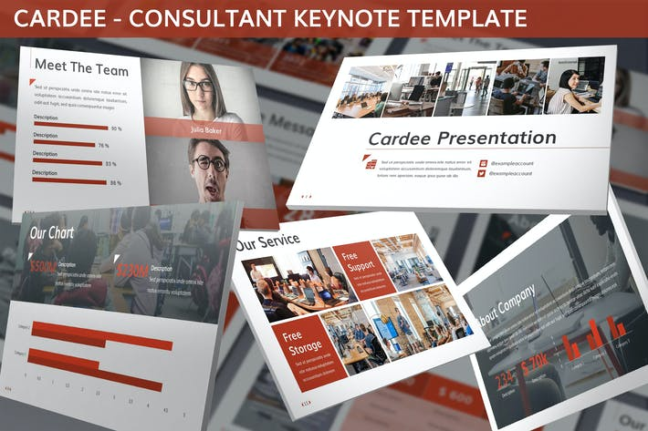 Thumbnail for Cardee - Consultant Keynote Template