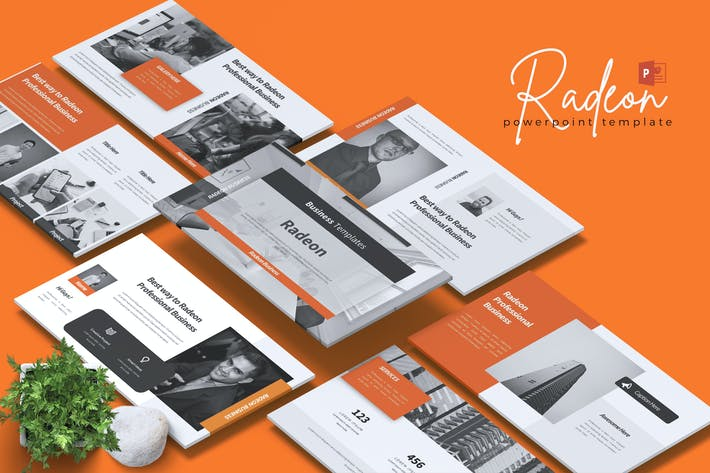 Cover Image For RADEON - Business Powerpoint Template