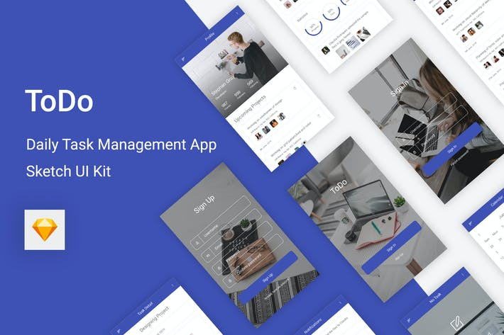Thumbnail for ToDo - Daily Task Management Mobile App for Sketch