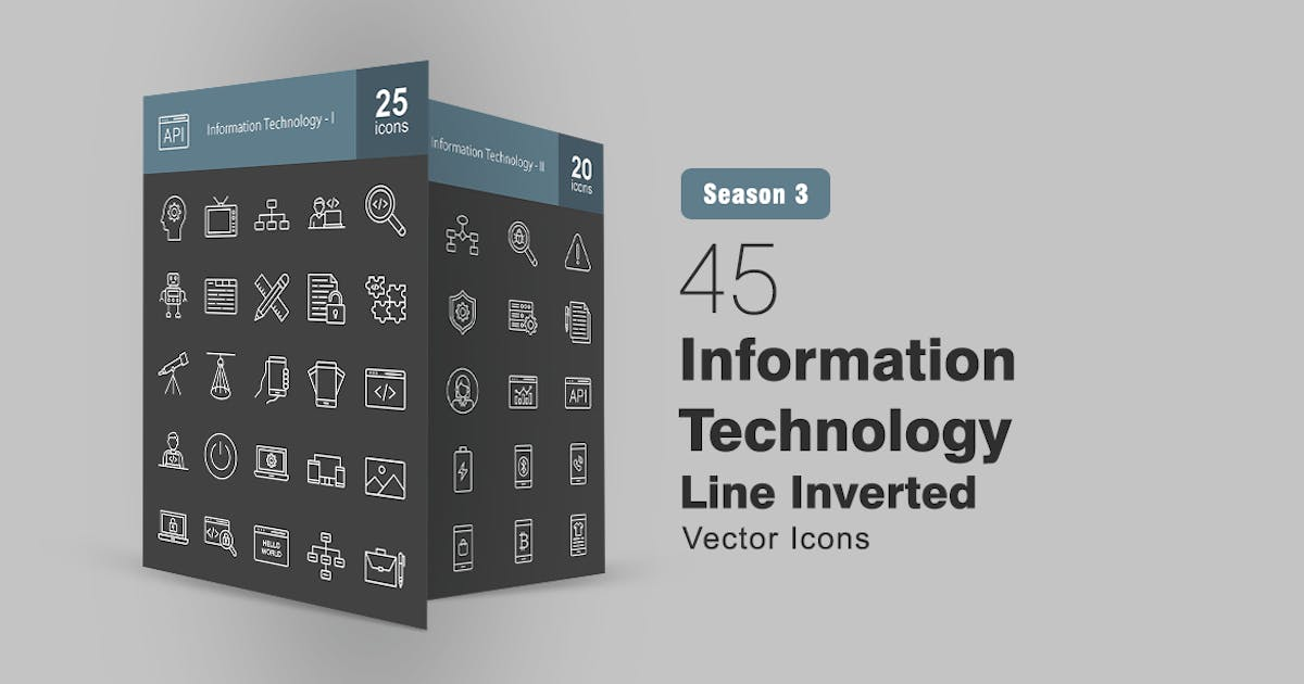 Download 45 Information Technology Line Inverted Icons by IconBunny