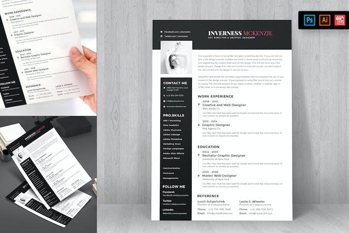 Thumbnail for Resume CV Template-68