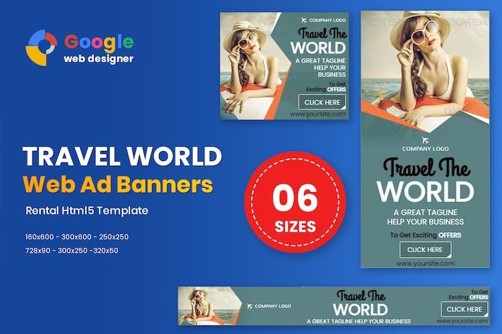 Travel World Banners HTML5 - GWD