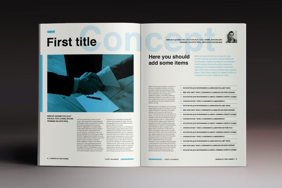Newsletter Brochure Indesign Template