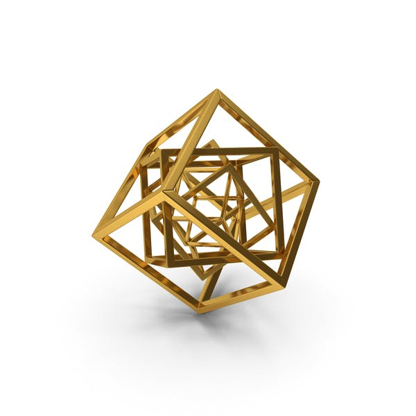 Cube in Cube Gold