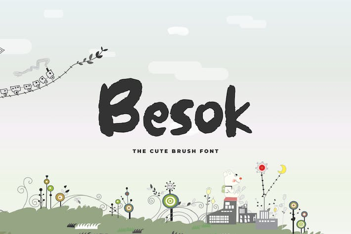 Thumbnail for Besok - The Cute Brush Font