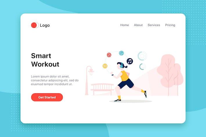 Cover Image For Smart workout Illustration - Website Header
