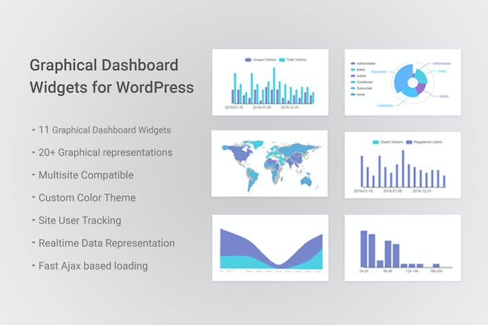 Cover Image For Graphical Dashboard Widgets for WordPress