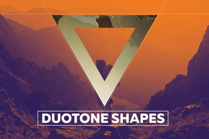 Thumbnail for Duotone Geometric Shapes