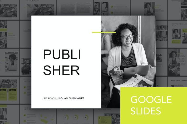 Thumbnail for Publisher Google Slides Template