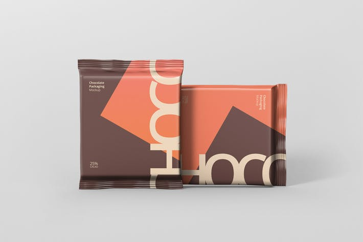 Thumbnail for Foil Chocolate Packaging Mockup - Square Size
