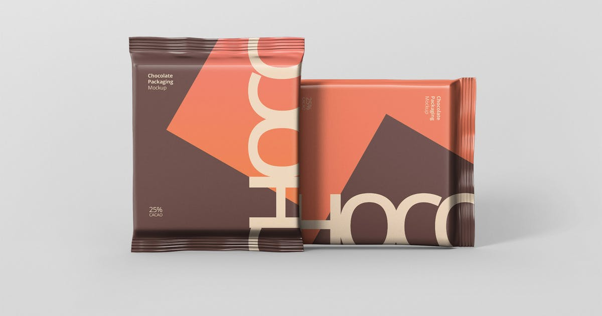 Download Foil Chocolate Packaging Mockup - Square Size by visconbiz