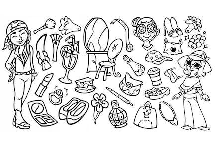 30 Beauty Stuffs - Doodle Clipart