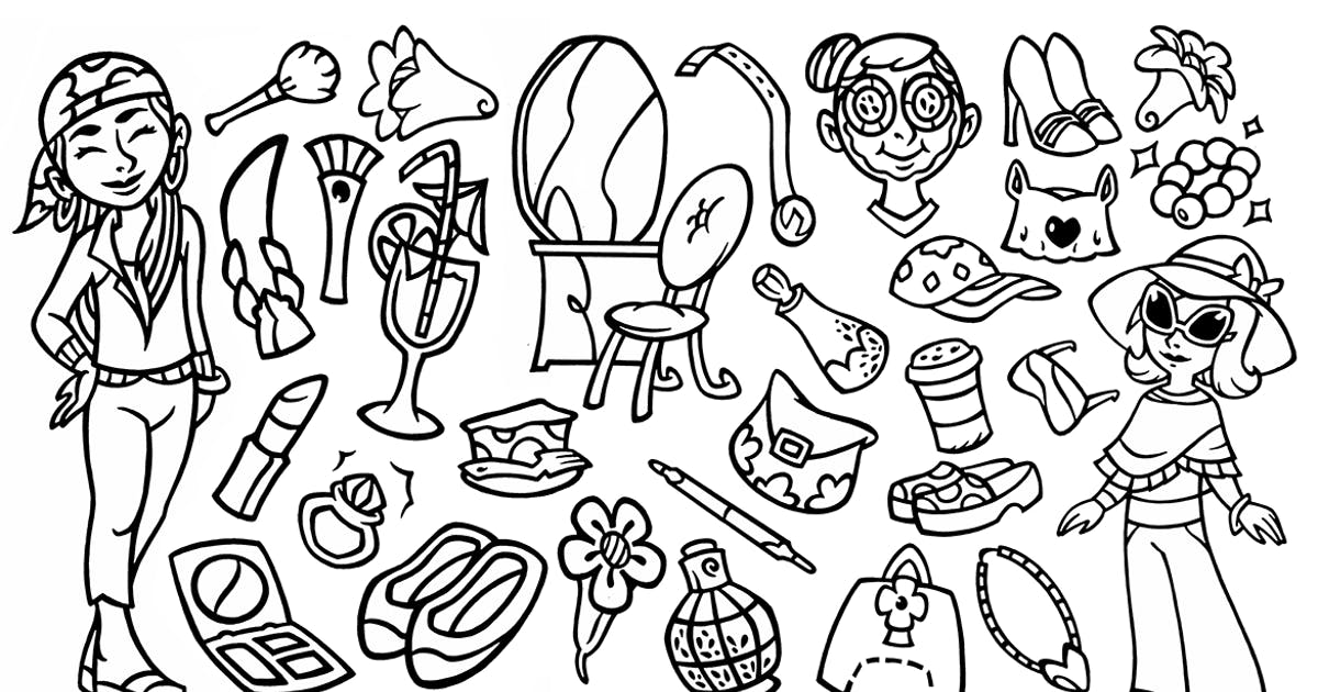 Download 30 Beauty Stuffs - Doodle Clipart by yipianesia