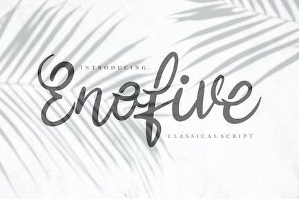 Enofive | Classical Script Font