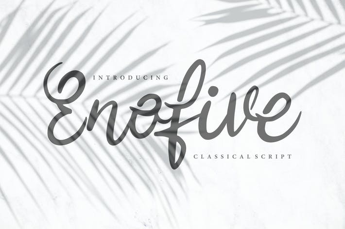 Enofive | Police de script Classique