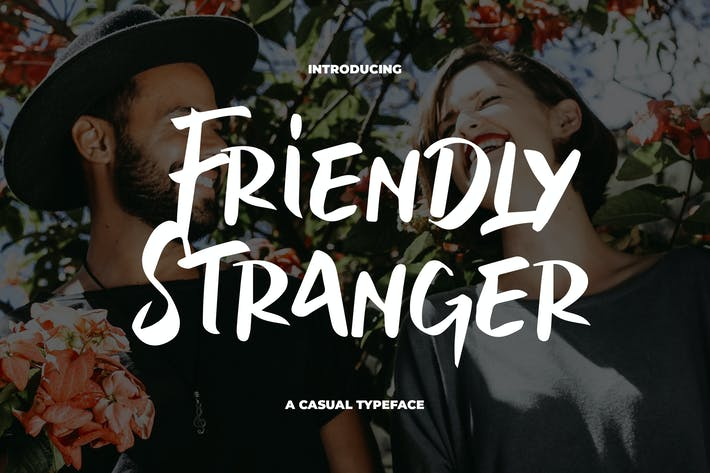 Thumbnail for Friendly Stranger - Une police de caractères décontractée