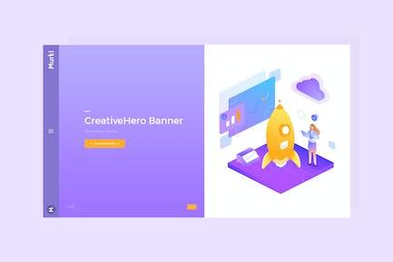 Murki - Hero Banner Template