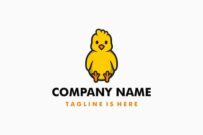 Thumbnail for Cute Little Chick Cartoon Logo