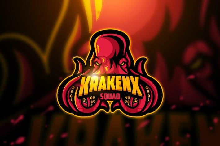 Thumbnail for Krakenx - Mascot & Esport Logo