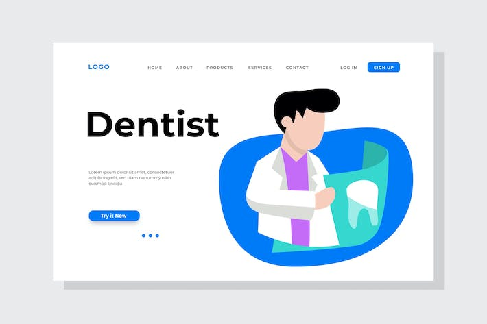 Thumbnail for Dentist Landing Page Illustration