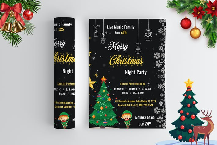 Thumbnail for Christmas Night Party - Flyer