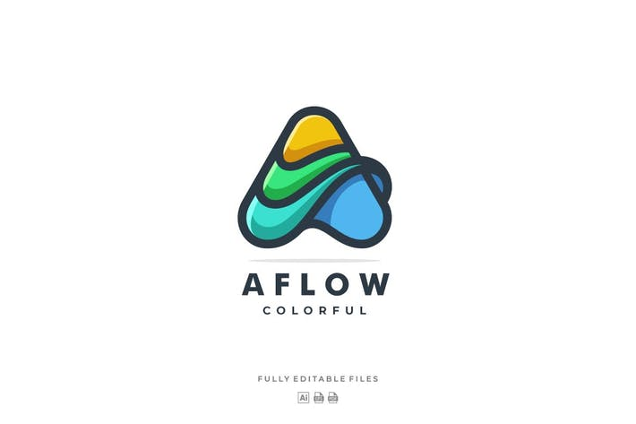 Thumbnail for Letter A Color Line Logo