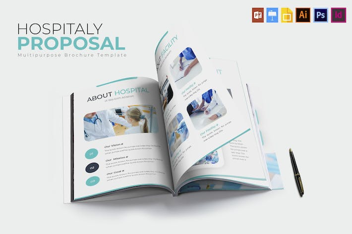 Thumbnail for Hospitaly | Brochure Template