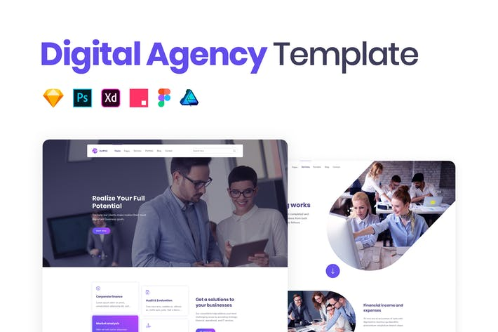 Thumbnail for Digital Agency Web Template