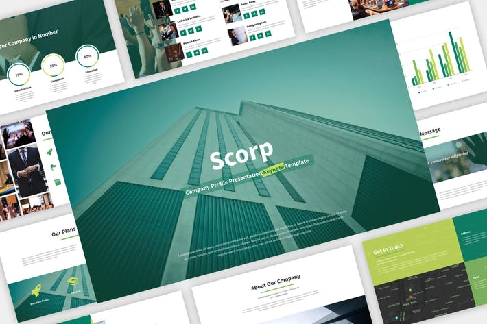Thumbnail for Scorp - Company Presentation Keynote Template