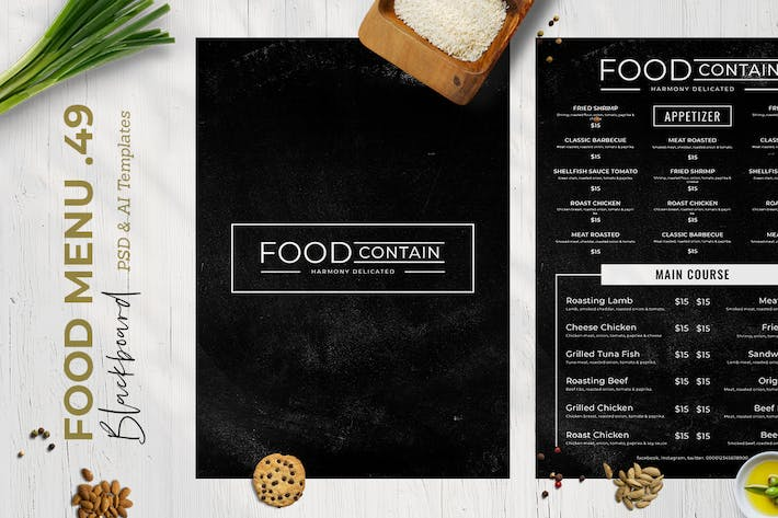 Thumbnail for Blackboard Food Menu. 49