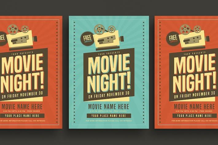 Thumbnail for Retro Movie Night Flyer