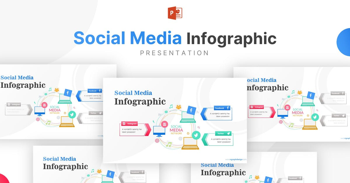 Download Laptop Illustration With Social Media Infographic by RRgraph