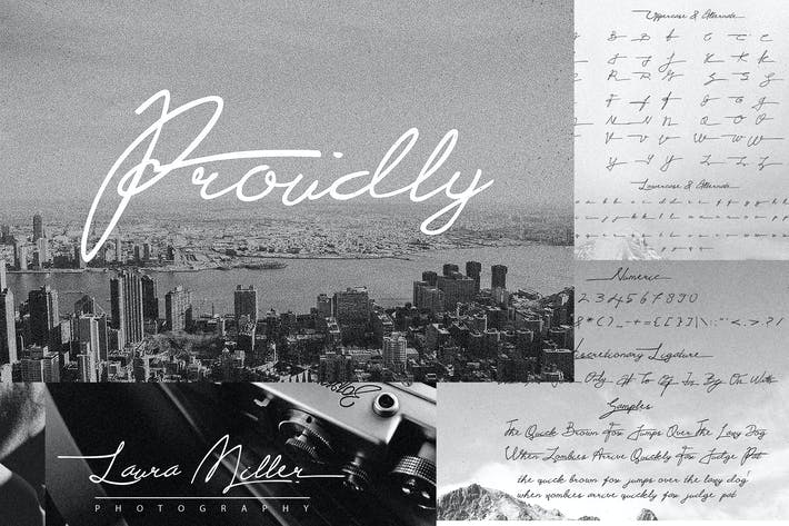 Thumbnail for Proudly Signature Script