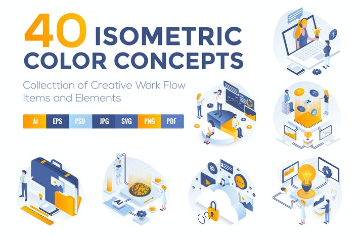 Thumbnail for Set of Modern Isometric Concepts