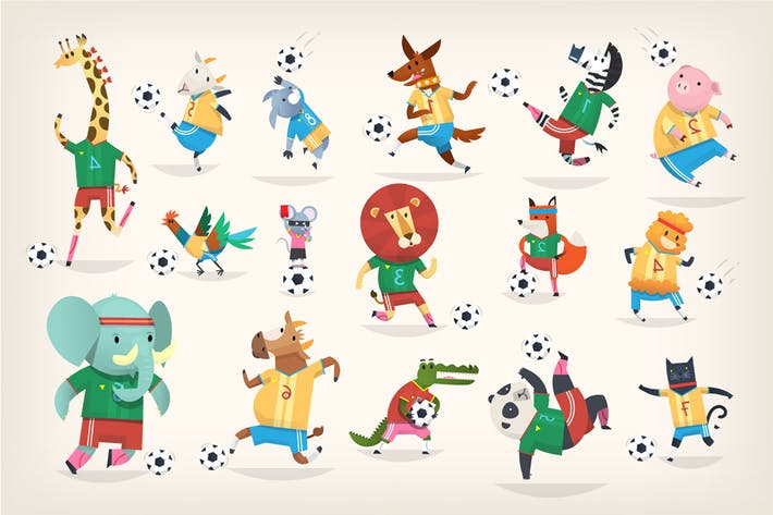 Thumbnail for Animals Playing Football