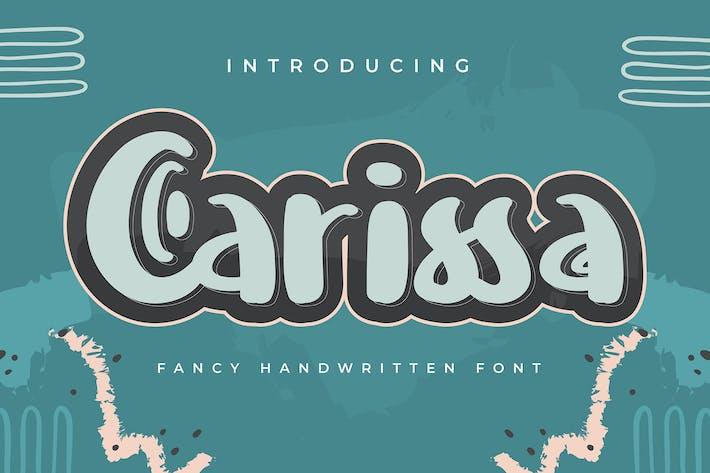 Thumbnail for Carissa | Fuente escrita a mano
