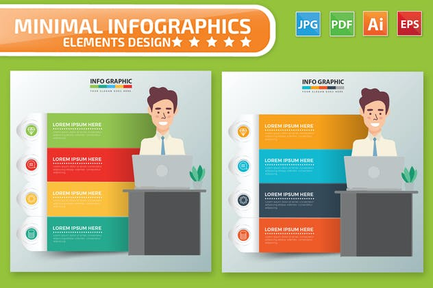 Businessman Infographics Design - product preview 2