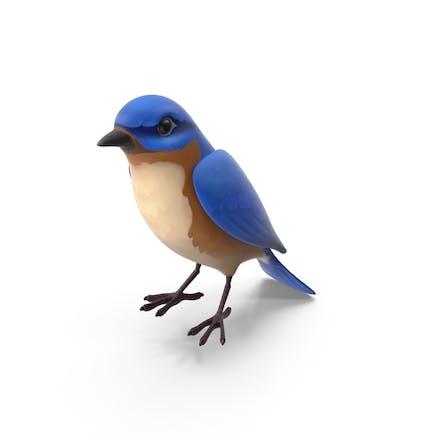 Cartoon Blauer Vogel
