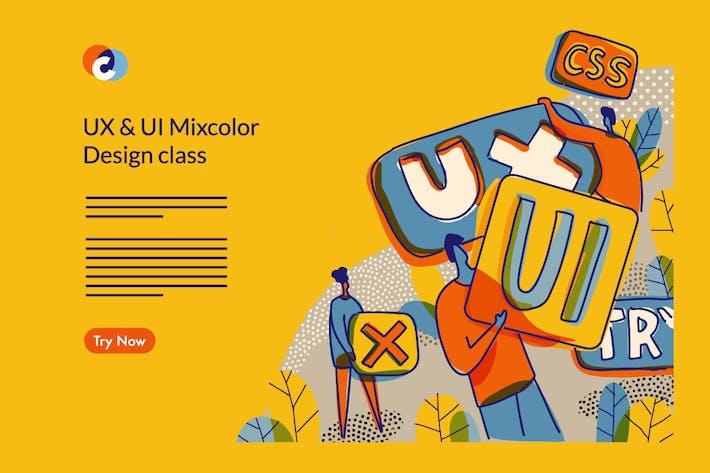 Thumbnail for UX UI Design Class Web template