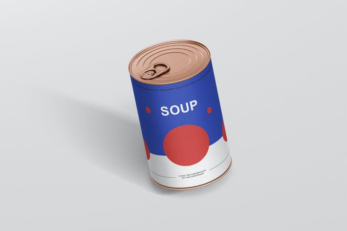 Thumbnail for Food Tin Can Mockup