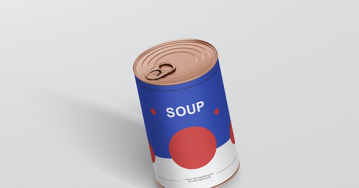 Download Food Tin Can Mockup by visconbiz